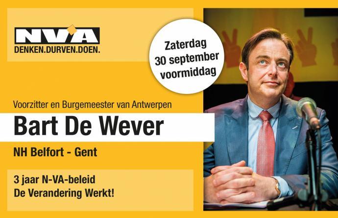 Aperitiefgesprek Bart De Wever